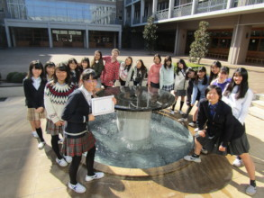 Students with their Completion Certificate