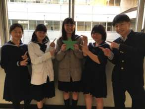 Komatsugawa HS students loved the notes & letters