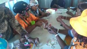 Parents & Guardians doing craft