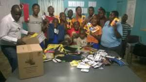 Stationery donation from Pastor Bongwe