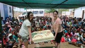 Christmas cake for the community's children