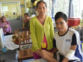 Soun Mao and Srey Peng in the Medical Ward