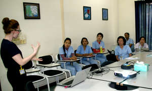 International volunteer trains our nursing staff