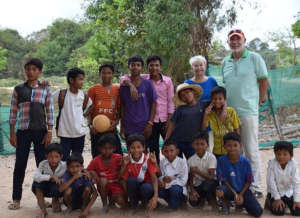 Last year's prize draw winners visiting Cambodia