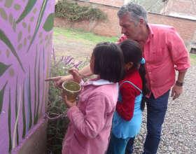 Volunteer and gardening expert Richard