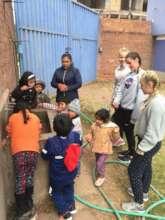 Kindergarten Cleaning their Teeth