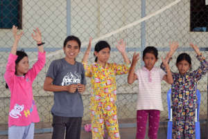 Savun and students