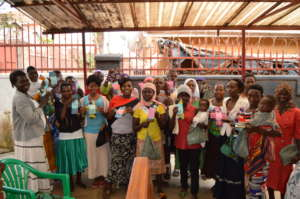 Smiling women of an income-generation group