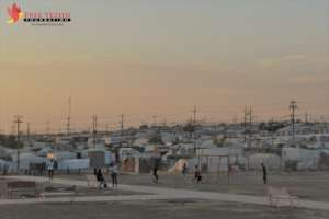Khanke IDP camp, view from FYF's women's Center