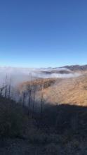 Burn Area near the Santo Domino Pueblo