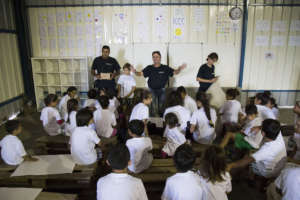 Teaching life-skills to boys and girls in the camp