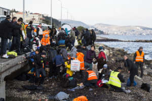 Refugee and migrant arrivals at Lesvos