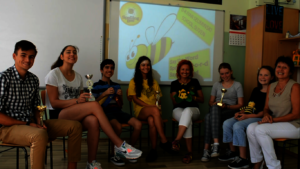 Teachers and distinguished bees from Sliven