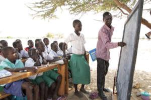 A 3rd grade teacher in Turkana Central sub-county.