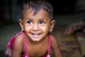 A portrait of Laila* at Leda Camp, Bangladesh