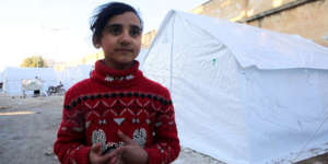 Hayat*, 10, fled Ma'arat Nu'man with her family