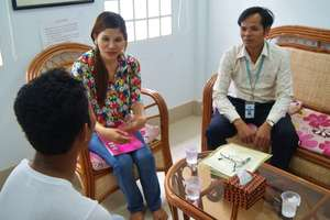 Counseling session at TPO's clinic