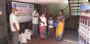 Ration kit to orphan children guardians