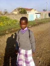 One of the daughters on her first day of school.
