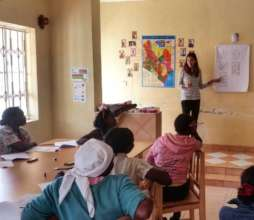 Our Volunteer Sofia teaching business management.