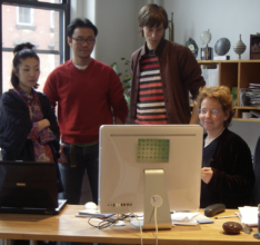 Our staff in 2006, with Singapore's 1st map maker