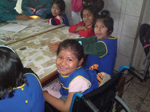 Smiling Madre de Dios Shelter children