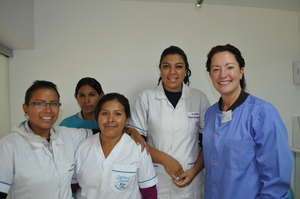 Deborah McLynn Chiu Dental Educator with Students