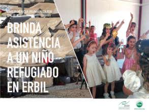 A kindergarten for 130 refugee children in Erbil