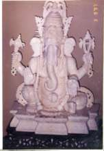 Carving of Ganesha in Ivory