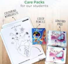 Art supplies, art & activity sheets for students