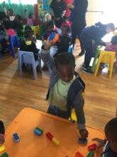 Yolo, age 5, enjoying the activities