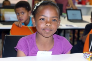 Chantel, Grade 3, at the workshop