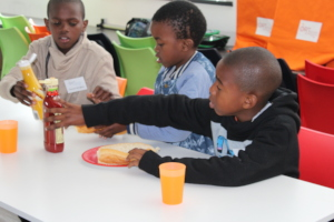 The children were provided with lunch