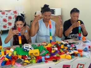 Wonderland Educare teachers -a fine motor activity
