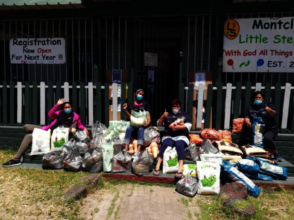 Food donations to Little Steps Educare