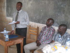 District Education officer during food distributio