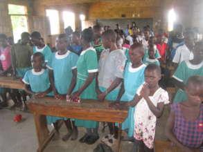 Pupils of Mbute primary school