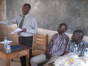 District Education officer talks to pupils