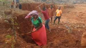 Brickmaking for girls hostel