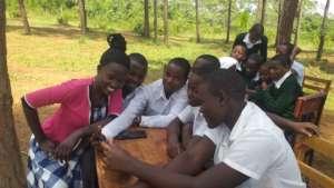 Outside classroom at Ikondo