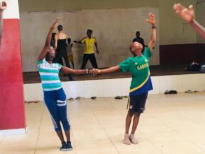 Guinean Students in rehearsal