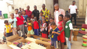 Shoes from Canada Going to Children in Guinea