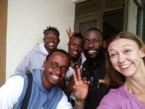 Guinea teachers Salifou and Ibrahima in Uganda