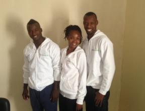 Salifou (left), from MindLeaps Guinea