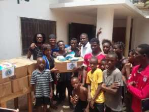 Donation of sanitation kits from The Lions Club