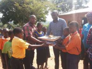 Two schools benefited from text books