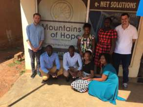 Evaluation team and Mountains of Hope staff