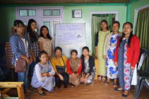 Women community facilitators at a training
