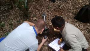 Measuring soil hydrology in the project area