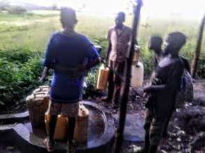 A Newly constructed borehole in Rural Mityana